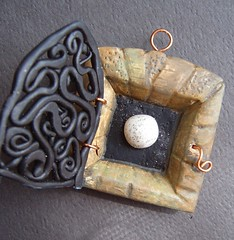 Shrine-He Said He Would Give Me The Moon (gabriel studios) Tags: necklace shrine handmade clay bead jewlery etsy supplies artisan pendant keepsake polymer focal gabrielstudios artbead michelegabrielstudios