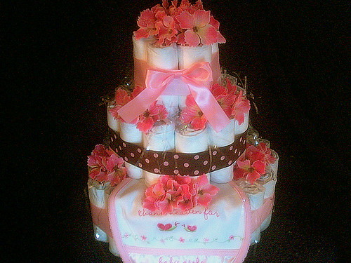 Classy And Trendy 3 Tiered *Baby Girl* BY Angelina's Gifts