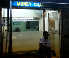 money changer (_gem_) Tags: street city urban money night evening securityguard philippines guard structures driveby places nighttime manila malate stores moneychanger currencyexchange metromanila foreignexchange moneychanging