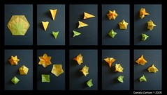 3 flowers poster (Nocciola_) Tags: flower origami fiore