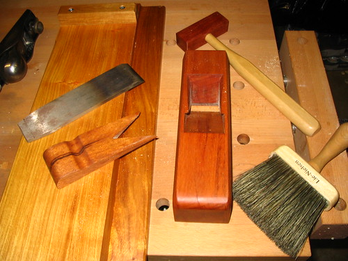Miter plane disassembled