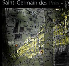 Saint-Germain (Alain Bachellier) Tags: paris plan saintgermain carte faades
