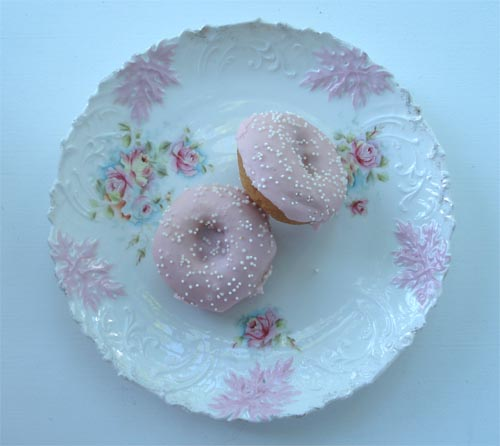 Doughnuts on China Plate
