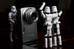 Say Cheese! (-spam-) Tags: camera cheese canon toy starwars pentax ps plastic stormtrooper 365 figurine spacetrooper lifeonthedeathstar