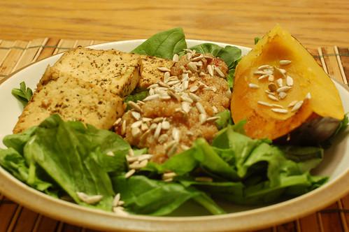 Vegan Mofo: Day 2 - Tofu, Quinoa, Acorn Squash