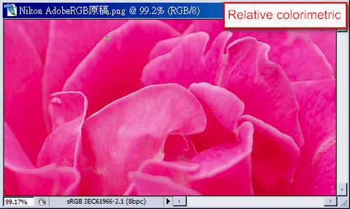 convert color space(Relative colorimetric)