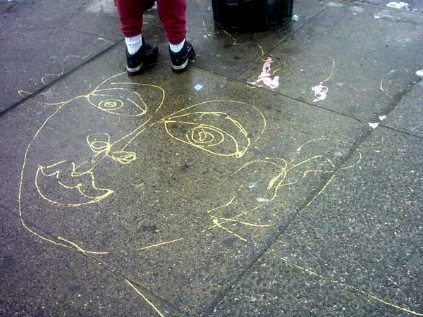 Sidewalk Face - April 8, 2003