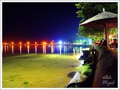 Long Hot Summer Night (andzer) Tags: light sea summer vacation sun moon holiday hot color beach water rock night fun bay sand waterfront gulf joy vivid wave scout andreas best explore greece macedonia bathe thessaloniki hendrix vacancy scapes salonica thermaikos   epanomi zervas  ysplix andzer   wwwandzergr