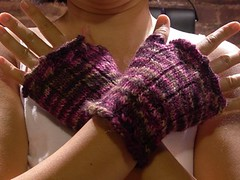 Fetching fingerless gloves