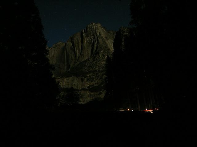 Yosemite Falls in the Moonlight