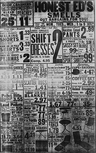 Vintage Ad #275: Honest Ed's Smells Out Bargains For You!