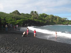 Day9: Maui -Road to Hana -Black Sand Beach (Amudha Irudayam) Tags: black beach hawaii sand maui hana amu amudha