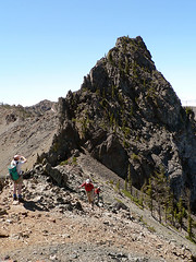 Bye Bye Volcanic Neck, as seen from the connecting ridge to Devils Head (Pt. 6666) 7.29.07.