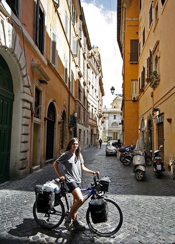 Roma en bicicleta