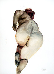 START (070625) (przondzion) Tags: woman germany watercolor painting paper nude deutschland akt drawing frau papier 2007 zeichnung aquarell drawingfromlife tomprzondzion