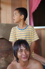 Brothers (voss) Tags: people d50 sarawak malaysia borneo bungan punan punansama