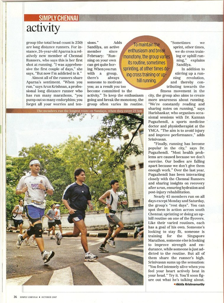 Chennai Runners in india Today - page 3