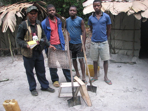 diamond miners with tools of trade