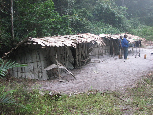mining camp on the Lokomue