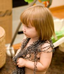 Kaia Wearing Yarn