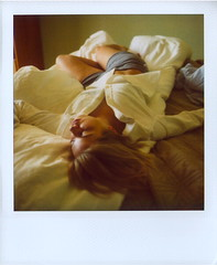 What'd You Dream About Last Night? (Lou O' Bedlam) Tags: portrait polaroid sleep jenn abs polaroid680 onthebed 9107 louobedlam lounoble greatabsimeanthatpilatesworks allwomenshouldwearbuttonupshirtsjustlikethis louobedlamcom