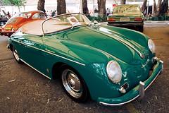 Woody's car (poperotico) Tags: old verde green car brasil woodpecker saopaulo antique woody convertible porsche carro speedster antigo targa cabriolet picapau exposicao conversivel jockeyclubsp brasilcollectioncars
