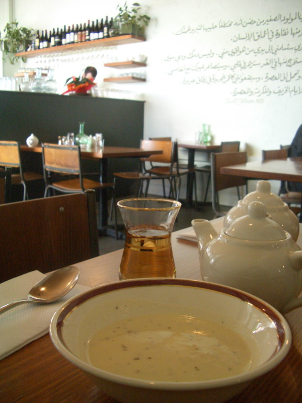 Hot yoghurt soup at Rumi