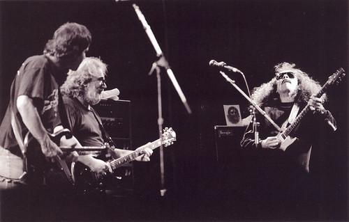 Bob Weir & Jerry Garcia with guest Carlos Santana - Grateful Dead 8/22/87 Calaveras County Fairground, Angels Camp, California