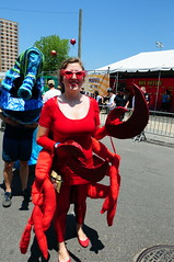 (photomagister) Tags: ocean nyc newyorkcity carnival costumes sea sexy beautiful brooklyn coneyisland nikon women breasts boobs mermaidparade nikkor nudity 1735mmf28d colurful afs d300  nikond300
