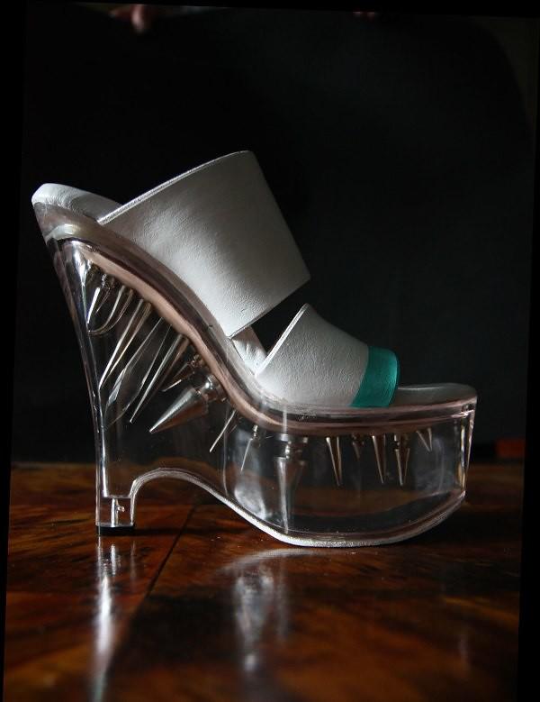 Indecorous Taste custom studded wedge heels 6