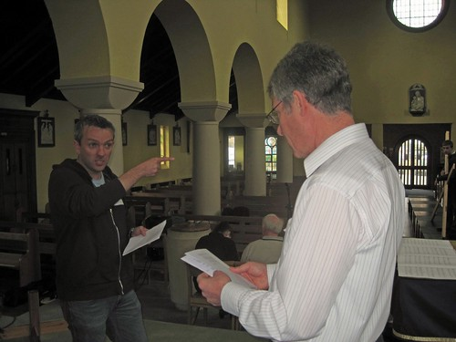 Director Martin O'Brien at work