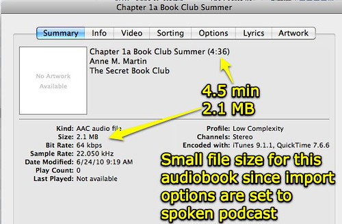 Smaller audiobook file size