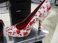 Scenes from a Halloween store (Jen44) Tags: holiday halloween store costume scary blood october shoes decoration horror heel splatter props