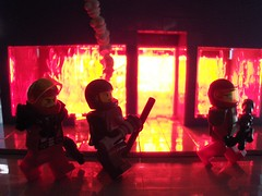 Fully Engulfed (Ludgonious) Tags: lighting fire war lego smoke explosion atlas doog moc