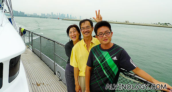 Aunt Catherine, her husband and my cousin, Jun Jie