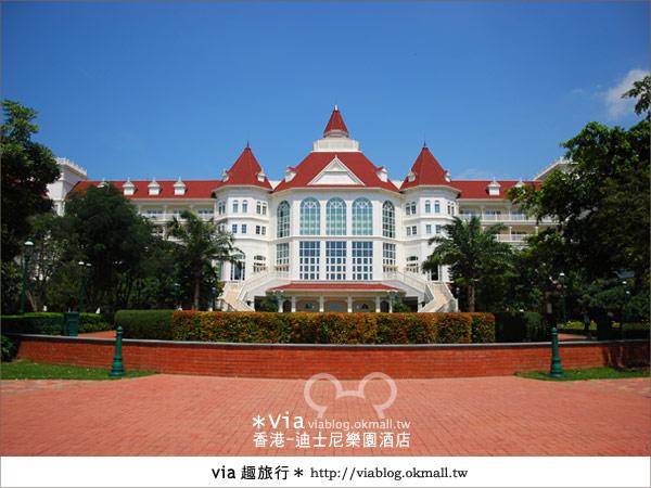 【香港住宿】跟著via玩香港(4)~迪士尼樂園酒店(外觀、房間篇)9