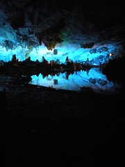 Reed Flute Cave - Guilin (Massimo Tacchi) Tags: china lake reed lago blu guilin flute cave cina canna riflesso caverna guanxi flauto digitalcameraclub
