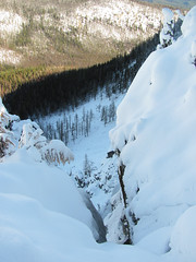 Steep gully