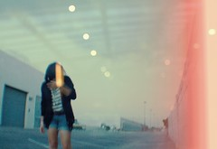 _________ (alyzaallison) Tags: self parkinglot glare bokeh