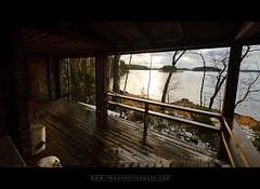 Little Cottage Terrace (Tomas Whitehouse) Tags: november winter dogs mkki saimaa sulkava cottagetrip easternfinland