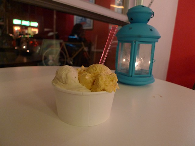 Caramel fig and pumpkin at N'Ice Cream!