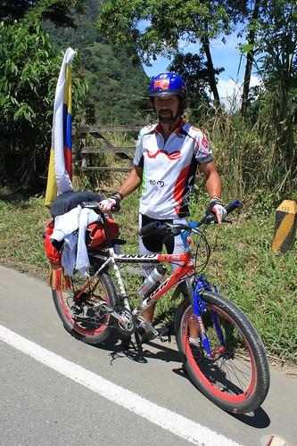 Álvaro, a colombian touring cyclist