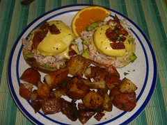 CIMG2026 (marymactavish) Tags: food cooking june breakfast avocado bacon newengland crab potato foodporn eggs brunch portlandmaine eggsbenedict 2007 hollandaise littlebluehouse