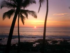 Sunset on the beach, a photo study