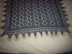 Close up on Victorian shawl