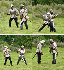 Whoops.... (loopy lou p) Tags: fete soldiers fighting swords weapons medievalweapons suitofarmor gracedieu thringstone leicesershire medievalfete