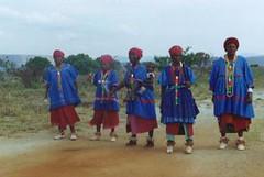 Dancers near Gods Window South Africa