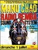 Manu Chao et Samba Sound System - Affiche du concert à Montreal le 1er juillet 2007