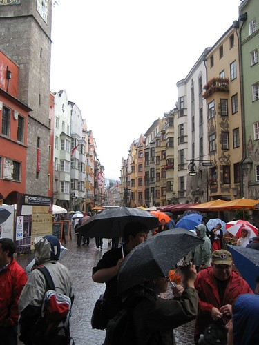 Rainy day in Innsbruck