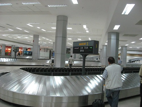Chennai International Airport - new arrivals area..